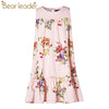 Flowers Printing Girls Dress - Girls