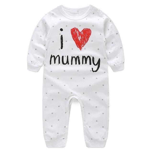 Footless Cute Letter Printed Rompers - Baby Boys