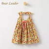 Fruits Print Princes Dress Hollow Back - Girls