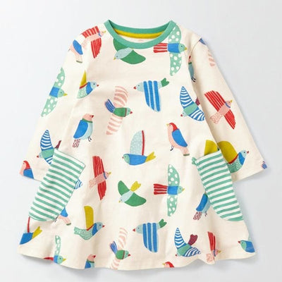 Full Casual Dresses Cute Pattern - Multi 1 / 3Y - Girls