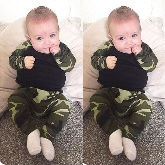 Full Style Military Green 2 Pcs - Baby Boys