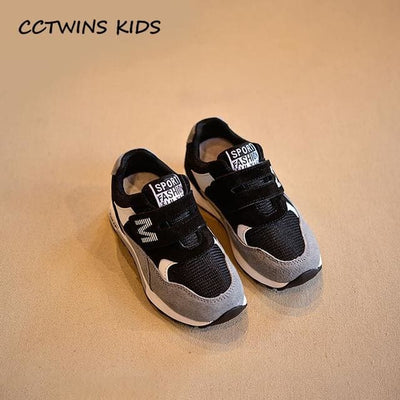 Genuine Leather Black Sport Sneaker - Black / 12.5 - Baby Boys