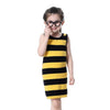 Girl Black & Yellow Striped Summer Dress - Girls