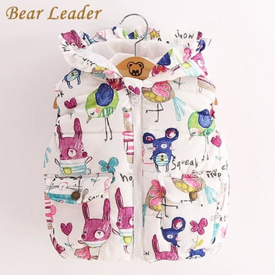 Girl Clothes Sleevele Animal Graffiti Print For Grils Jackets - Girls