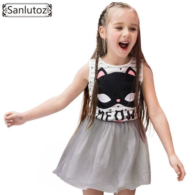 Girl Dress Stripe Costume - Girls