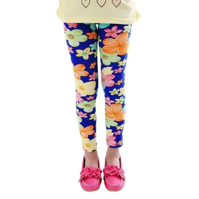 Girl Floral Butterfly Leggings - Gold / 2Y - Girls