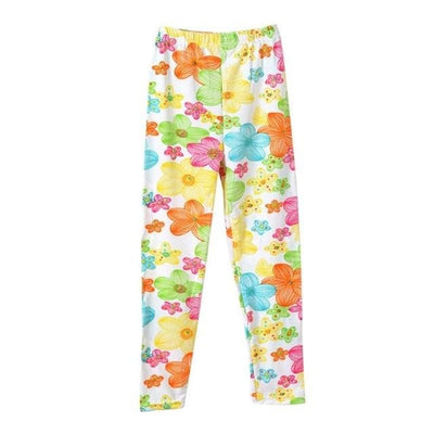 Girl Floral Butterfly Leggings - Gray / 2Y - Girls