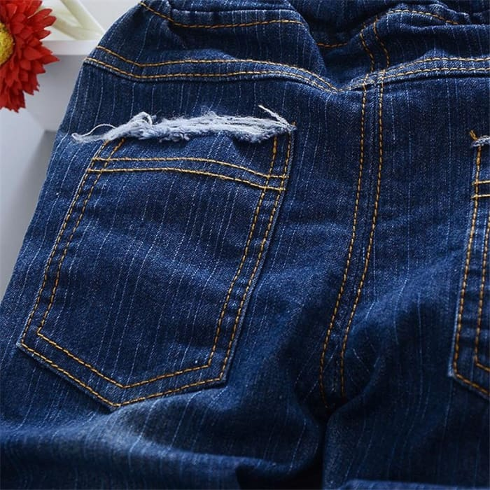 Girl Lace Beading Jeans - Blue / 1Y 6M - Girls