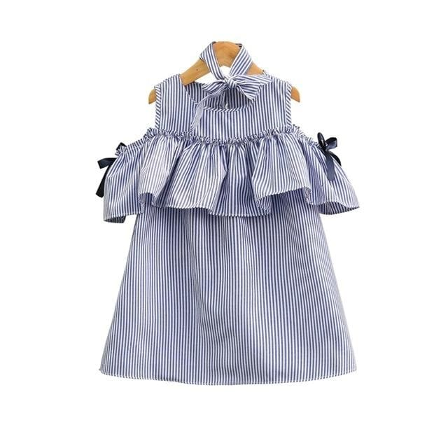 Girl Striped Cotton Dress - Girls