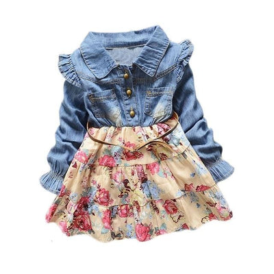 Girls Dress - Beige / 3Y - Girls