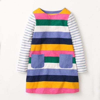 Girls Dress European And American Style - Multicolor 3 / 2Y - Girls