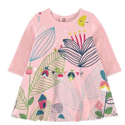 Girls Dress European And American Style - Pink / 2Y - Girls