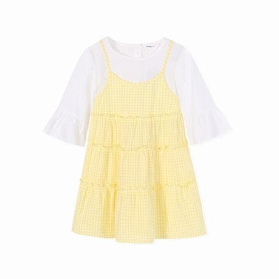 Girls Dress - Yellow / 2Y - Girls