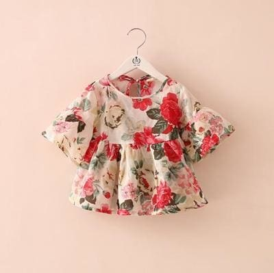 Girls Flower Blouse - Girls