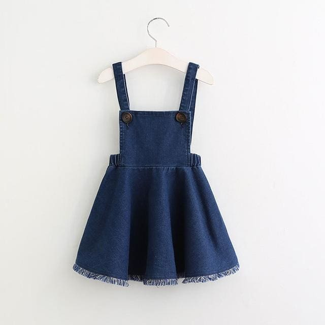 Girls Jumper Denim Dress - Girls
