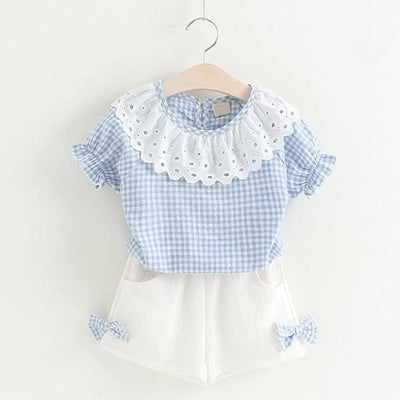 Girls Outfit - Sky Blue / 2Y - Girls