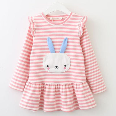 Girls S Long Sleeve Bunny Rabbit Lace Strip - Girls