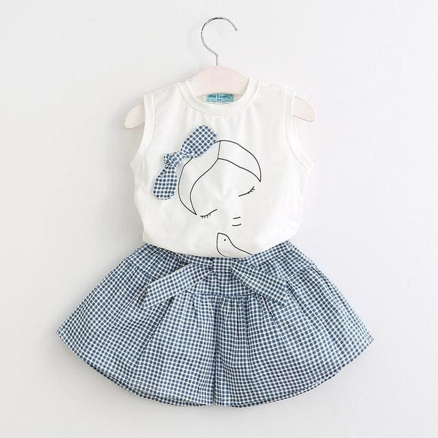 Girls Shirt +Shorts + Belt - Girls