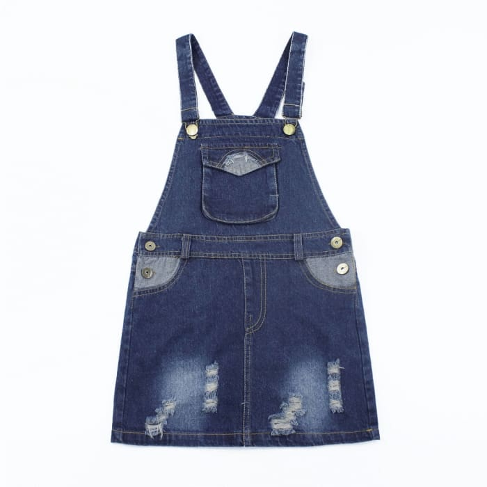 Girls Spring Girl Jumper Denim Skirts - Set / 4Y - Girls