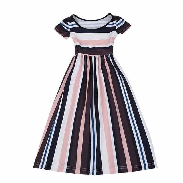 Girls Striped Party Dress - Girls