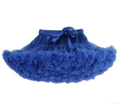 Girls Tulle Party Skirts - Blue / 6Y - Girls