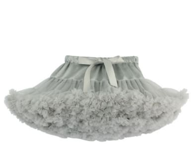 Girls Tulle Party Skirts - Grey / 6Y - Girls