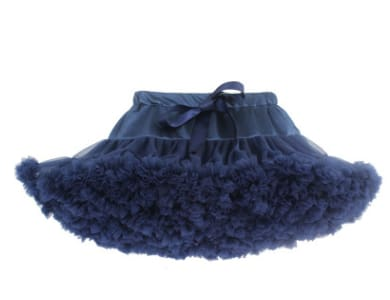Girls Tulle Party Skirts - Navy Blue / 6Y - Girls