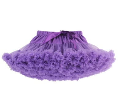 Girls Tulle Party Skirts - Purple / 6Y - Girls
