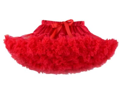 Girls Tulle Party Skirts - Red / 6Y - Girls