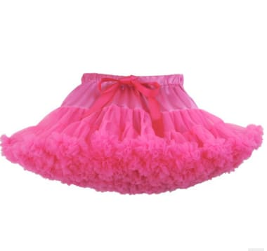 Girls Tulle Party Skirts - Rose Red / 6Y - Girls