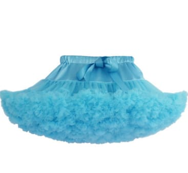 Girls Tulle Party Skirts - Sky Blue / 6Y - Girls
