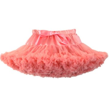 Girls Tulle Party Skirts - Watermelon Red / 6Y - Girls