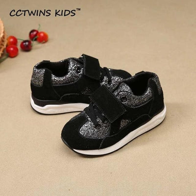 Glitter Fashion Shoe - Black / 1 - Girls