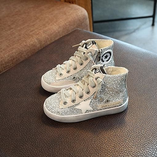 Glitter High Top Sneaker - Girls