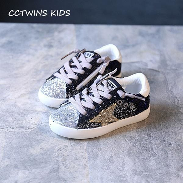 Glitter Star Sneaker Shoes - Girls