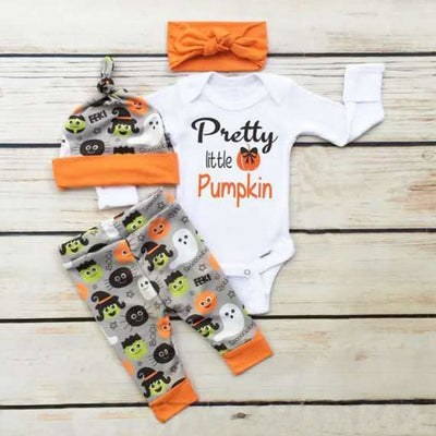 Halloween Pumpkin Outfit - Baby Girls