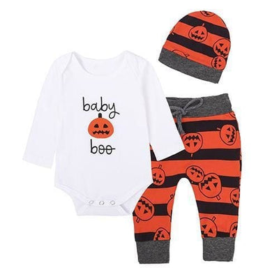 Halloween Pumpkin Outfit - Red / 1Y 6M - Baby Girls