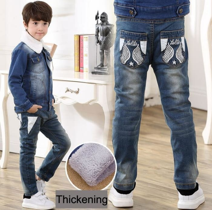 High Quality Korean Thickening Jeans For Boys - Boys
