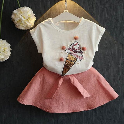 Ice Cream Sets Pattern - Pink / 3Y - Girls