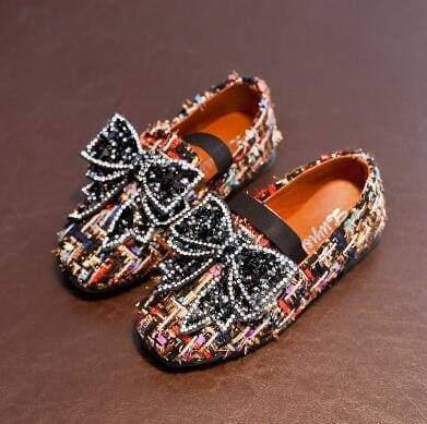 Leather Camouflage Rhinestone Princess Dance Shoes - Girls