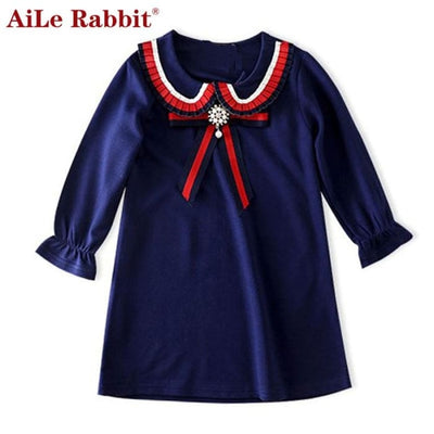 Long Sleeve Embroidery Girls Dress - Girls