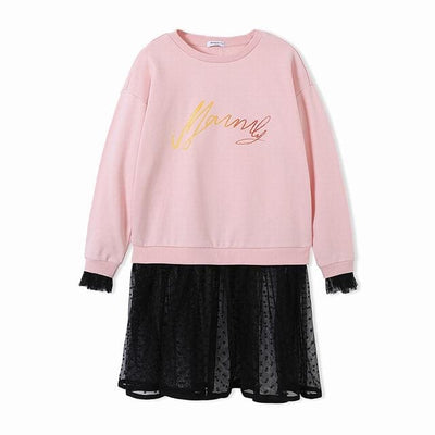 Long Sleeve Girls Dress - Pink / 6Y - Girls
