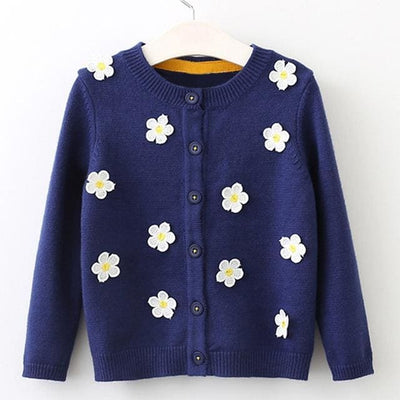 Long Sleeve Outerwear Open Stitch - Blue / 3Y - Girls