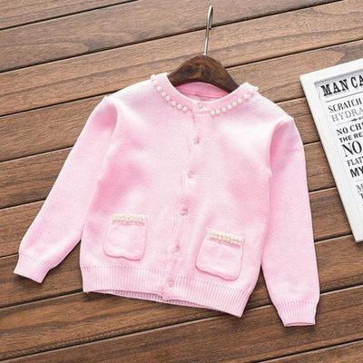 Long Sleeve Outerwear Open Stitch - Pink / 3Y - Girls