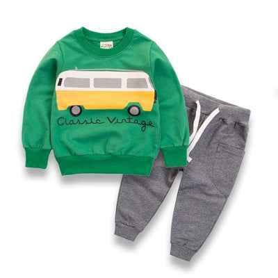 Long Sleeve Shirt Outfit - Green / 3Y - Boys