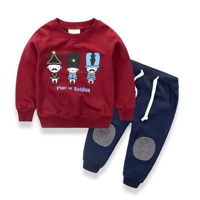 Long Sleeve Shirt Outfit - Red / 3Y - Boys
