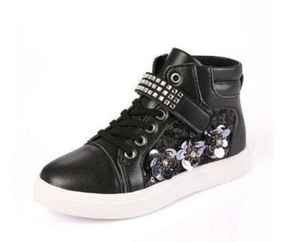 Mxhy Rhinestones Sneakers - Black / 8.5 - Girls