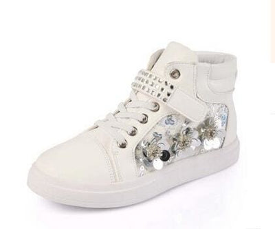 Mxhy Rhinestones Sneakers - White / 8.5 - Girls