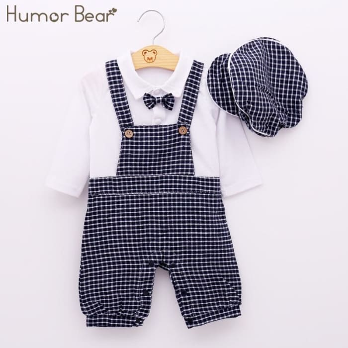 56d99a6fa959d Newborn Baby Boy Clothing Set Autumn Style Gentleman - Baby - Outfit