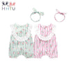 Newborn Rompers Cotton Jumpsuit For Summer Girl Clothes Infant Bow Headgear - Baby - Outfit